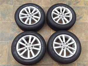 VW POLO VIVO 14 INCH MAG WHEELS WITH CONTINENTAL TYRES FOR SALE PRICE: R3200
