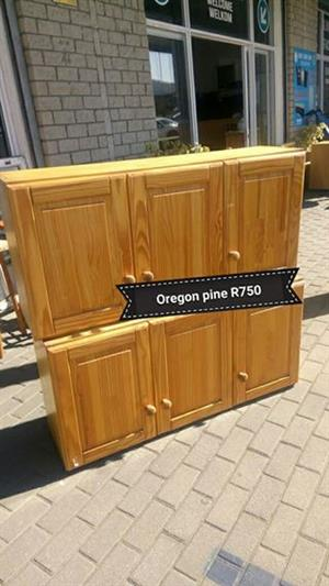 Oregon pine mini kitchen cabinets