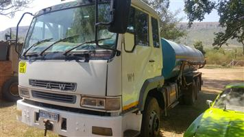 Truck hire business. Water trucks with current work