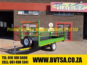 3 Meter Flatbed Trailer with Dropsides for sale