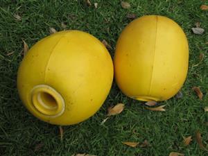 Buoys, markers, 2x, Polsen SP10, 20 cm, 18 cm diameter, diving, boating, scuba