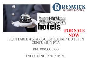 4 Star, luxurious Guest Lodge  - For sale - Pretoria