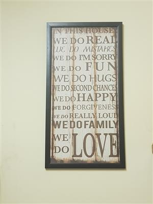 Love message wall art for sale