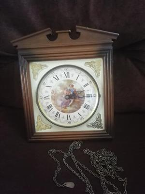 Clock west germany no pendulum or weights