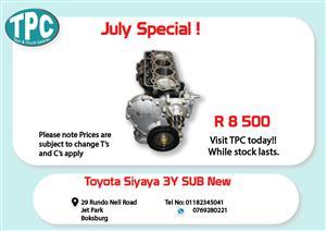 Toyota Siyaya 3Y Sub New for Sale at TPC