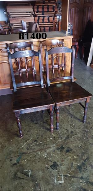 4 x Cottage Pine Dining Chairs