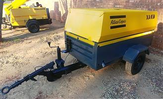 Atlas Copco 190Cfm Mobile Diesel Compressor - XA97