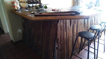 Wooden log bar for sale