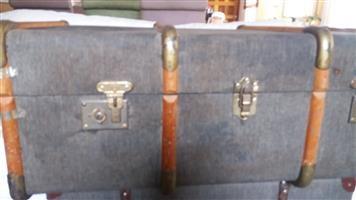 Large trunk with wood trim