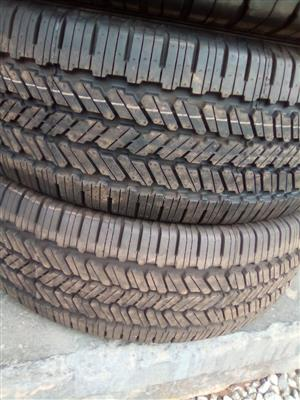 General Grabber new tyres 265/70/16 available for spare