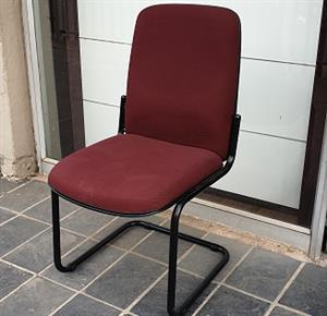 Pre-owned Visitors side chair in Burgandy fabric