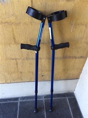 Funky metallic blue Crutches - when you need a little support!