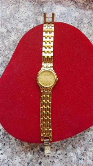 Tissot ladies gold plated watch
