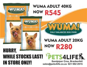 WUMA Adult Dog food now on special at PETS4LIFE BRACKENFELL