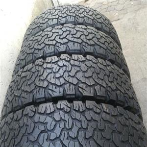 fairly used tyres still in perfect conditionz