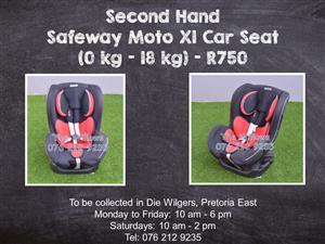 Second Hand Safeway X1 Car Seat (9 kg - 25 kg)