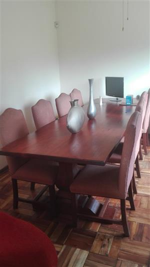 10 Seater Solid Oak Dining Table