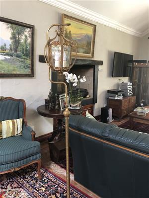 bronse floor lamp and table lamp