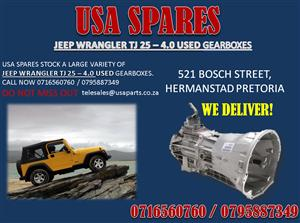 JEEP WRANGLER TJ 2.5 4.0 USED GEARBOXES- FOR SALE-