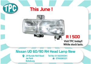 Nissan UD 60/90 RH Head Lamp New for Sale at TPC