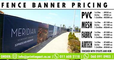 Fence Banner Printing Prices