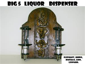 Liquor Dispenser: Mini BIG 5 + 2-Optics. Brand New Product.