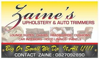 Zaine's Upholstery & Auto Trimmers