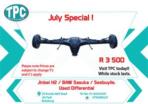 Jinbei H2 / BAW Sasuka / Sesbuyile Used Differential for Sale at TPC
