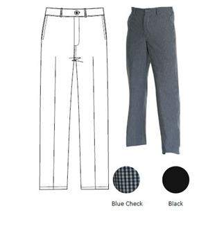 CHEFS UNIFORM TROUSERS (BLUE) CHECK