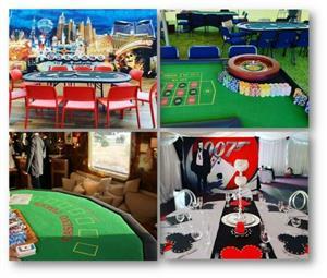 Fun Casino with Free Decor - Casino Themed Event Casino Party Blackjack Roulette Poker