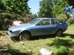 1975 Alfa Romeo GTV stripping for spares