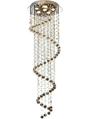 Spiral Raindrop Crystal Chandelier Pendant Lamp Lighting