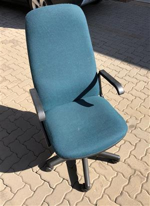 Blue office arm chair