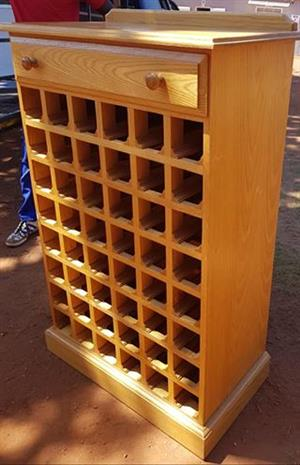 Stunning wine rack with drawer for sale