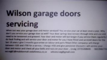 Garage door and gate motor service