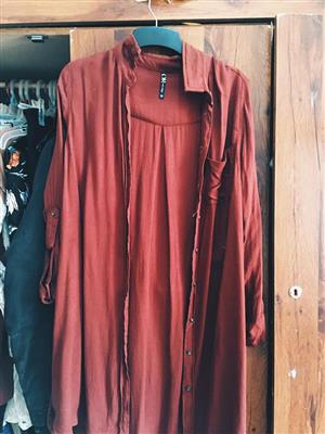 Rusted red long sleeve shirt