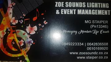 PA SOUND SYSTEM FOR HIRE also have LIGHTING VIDEO SHOOTING AND PHOTOGRAPHY