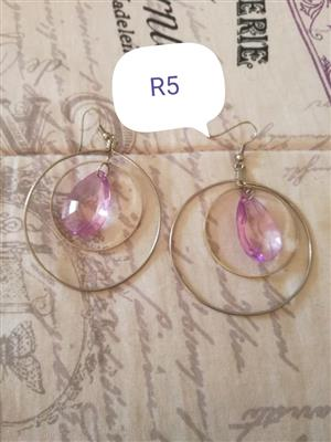 Pink stone earrings for sale