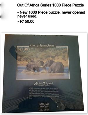 Out of Africa series 1000 piece puzzle