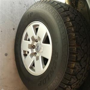Ford ranger mags and tyres full set for sale in good condition R 4950