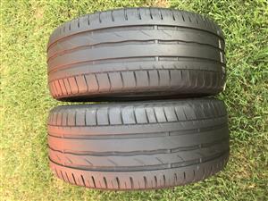Tyres 245/45 r18 x 2 Goodyear Run Flat tyres(75% tread)