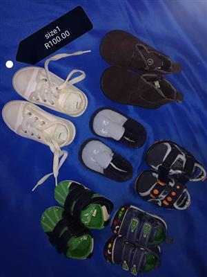 Size 1 kiddies shoes and sandals