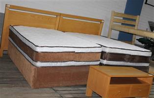 3/4 base set with twin headboard and pedestal S031401D #Rosettenvillepawnshop