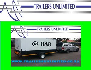 TRAILERS UNLIMITED.  CUSTOM BUILD BAR UNITS.