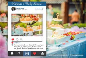 Custom Printed Instagram Frames:  ideal for Weddings, Birthday, Baby Showers
