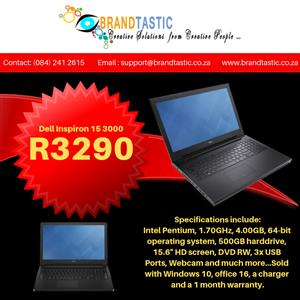 Dell Inspiron 15 3000 Laptop @ R3290   Junk Mail