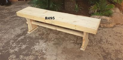 Solid Pine Bench (1400x315x430)