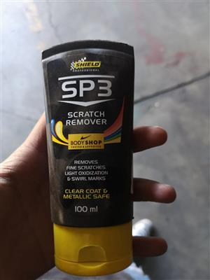 Shield scratch remover polish