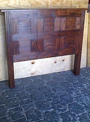 Headboard Farmhouse Block series Double bed Stained