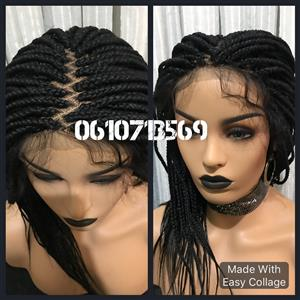 Stunning 18 inch lace frontal braid wig
